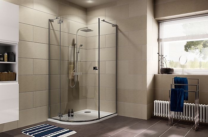 Image of bathroom with shower enclosure