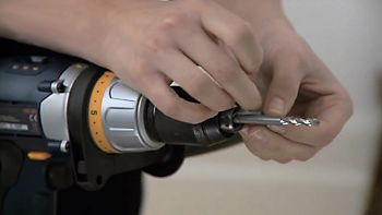 Using an appropriate drill bit for your wall, mark the length of your wall plugs on to the drill bit with a piece of tape to create a handy depth gauge.