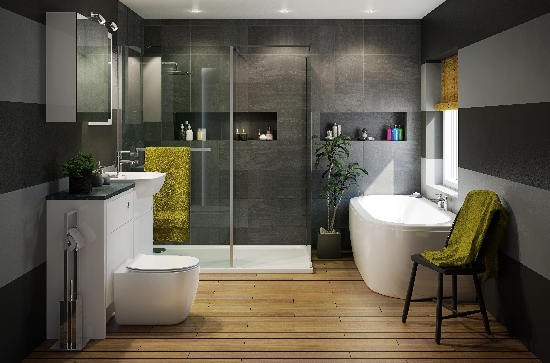 Helena Bathroom Suites Bathroom Departments Diy At B Amp Q