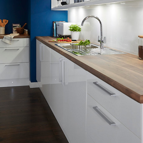 It Gloss White Slab Kitchen Ranges Kitchen Rooms Diy At B Q