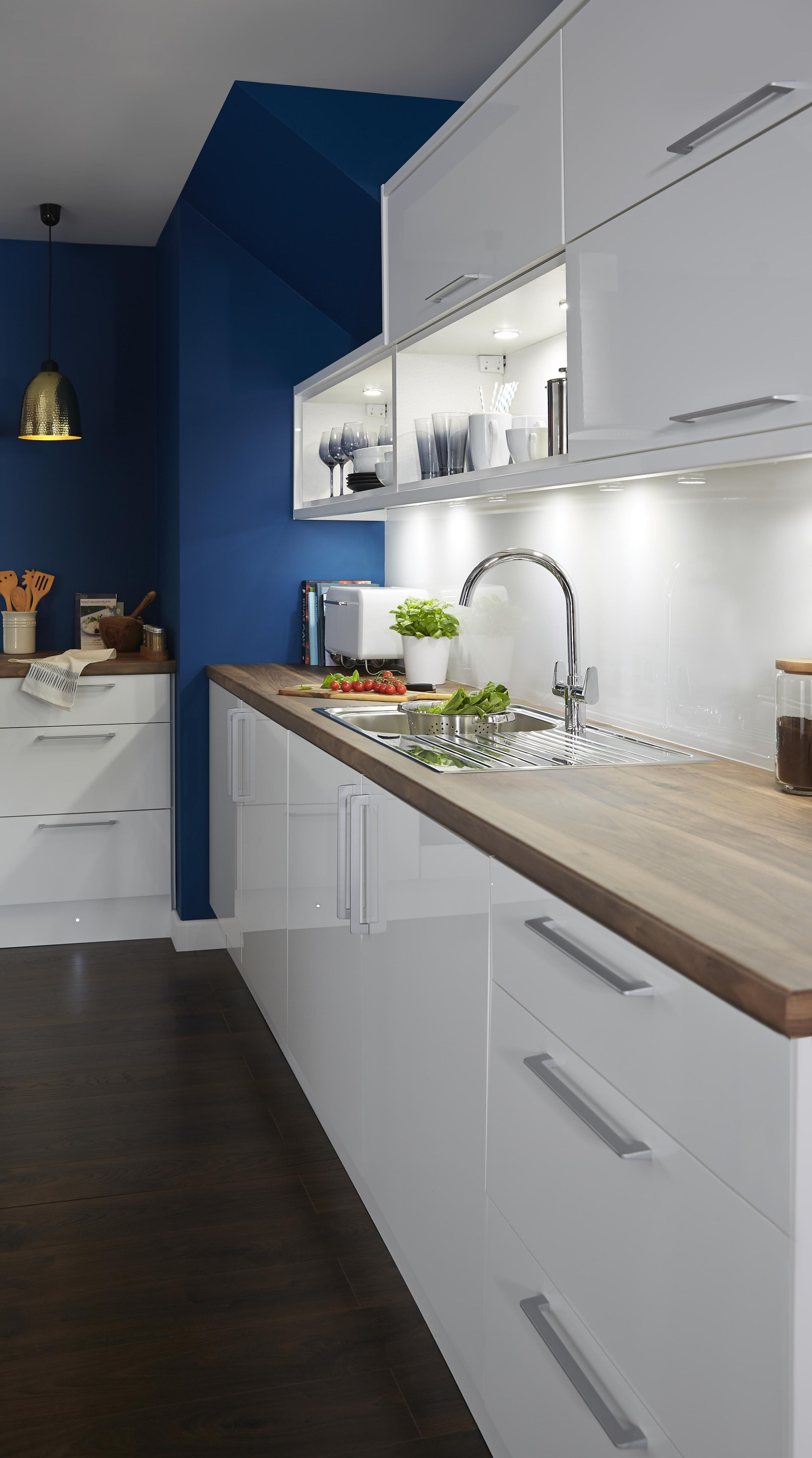 B And Q Kitchen Design Service   It Gloss White Slab Kitchen Ranges Kitchen  Rooms Part 68