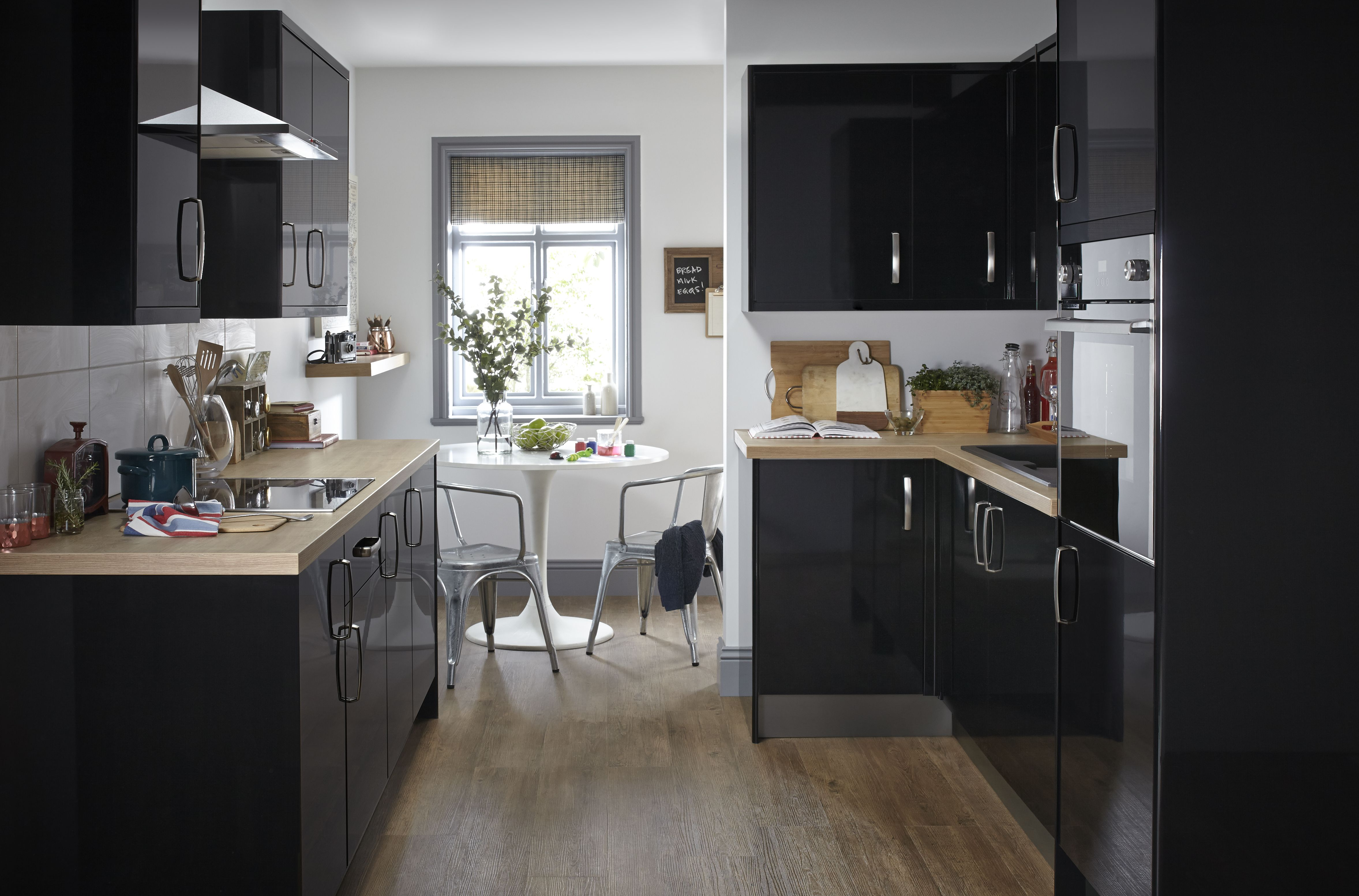 Replacement Acrylic High Gloss Kitchen Doors Drawers: HIGH GLOSS BLACK REPLACEMENT KITCHEN DOORS AND DRAWERS