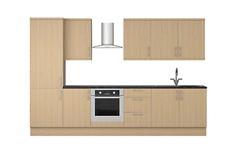 Westleigh Oak Style Shaker 8 unit example