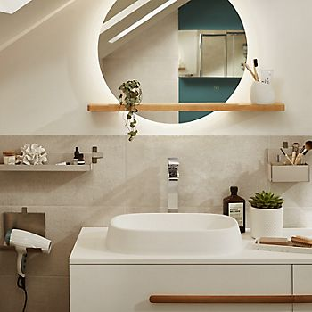Neutral coloured bathroom