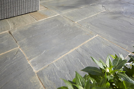 Quarried stone patio