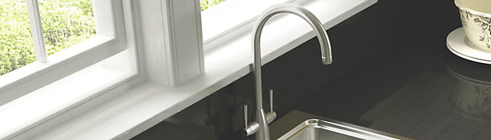 Chrome kitchen tap
