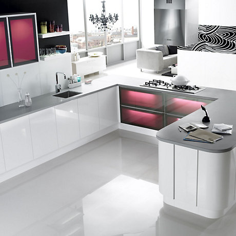 It marletti white kitchen ranges kitchen rooms diy for Kitchen tiles ideas b q
