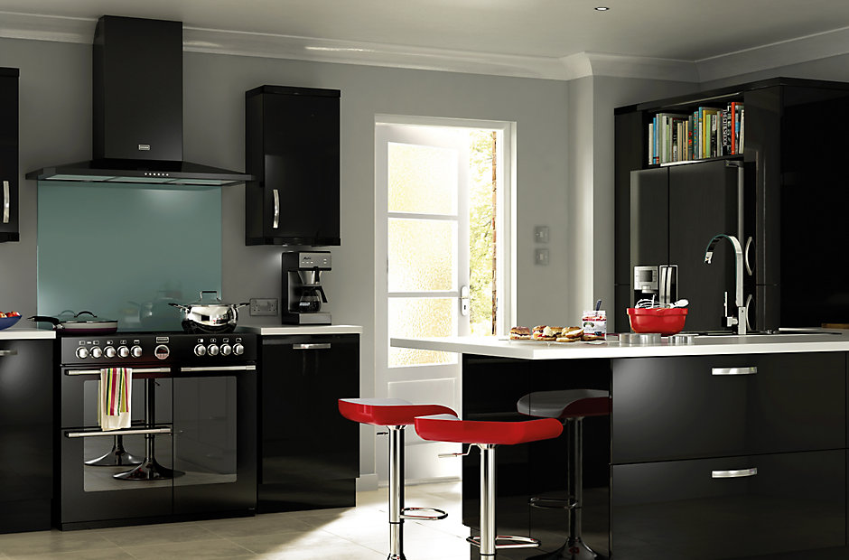 details about black high gloss replacement kitchen doors and drawer