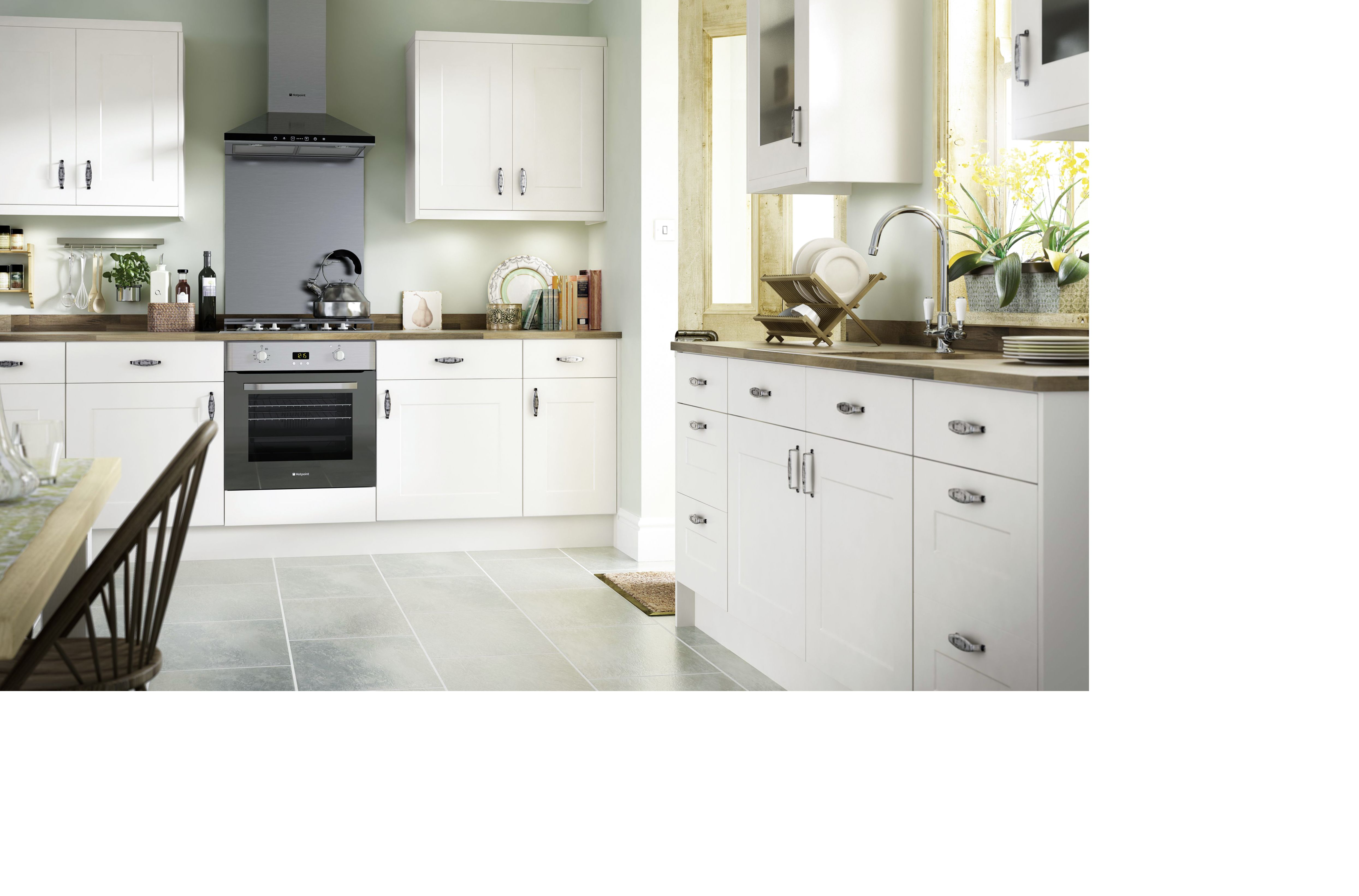 IT Stonefield Ivory Classic Style  DIY at B&Q