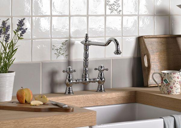 kitchen taps | pillar & mixer taps | diy at b&q