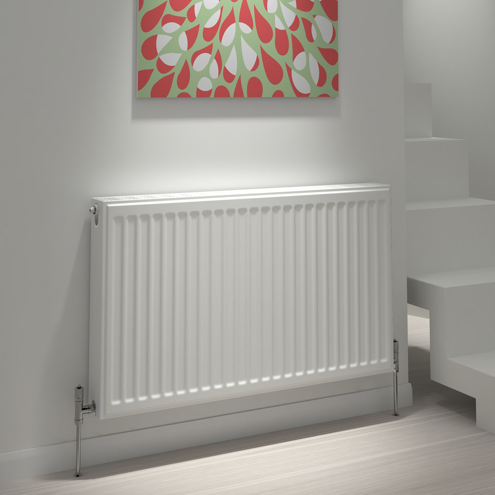 Kudox Type 22 Double Panel Radiator, (H)600mm (W)600mm