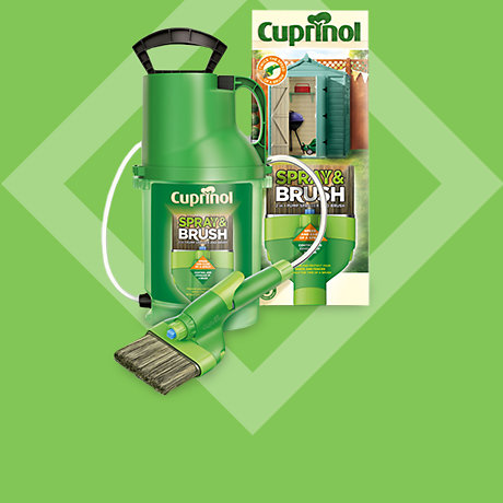 Cuprinol Spray & Brush Now £25, Was £30