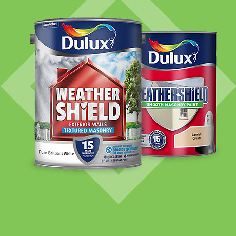 Dulux Weathershield Masonry Paint 5L - 2 for £38