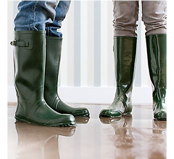 dripping wet wellington boots