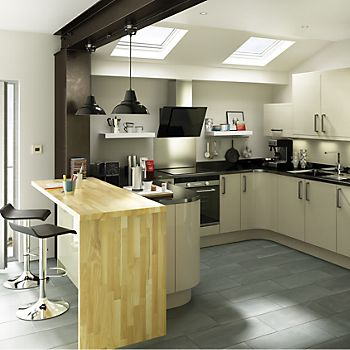 IT Santini Gloss Grey Slab kitchen