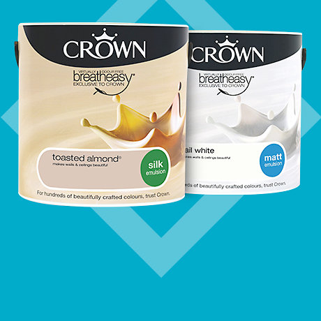 Crown 2.5L standard coloured emulsion - 2 for £20