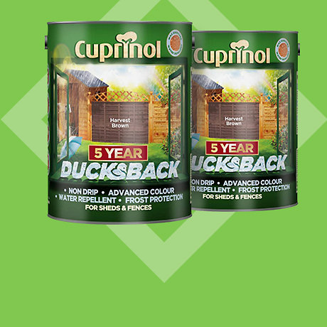 Cuprinol Ducksback Timbercare 5L - 2 for £20
