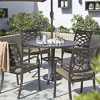 Ripley metal four seater dining set