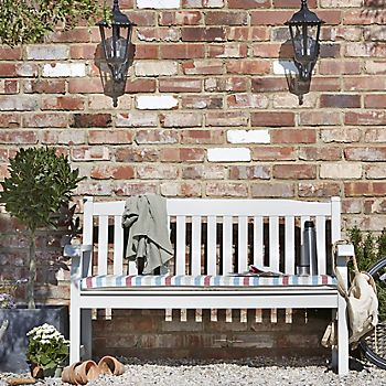 Salcombe painted wooden garden bench
