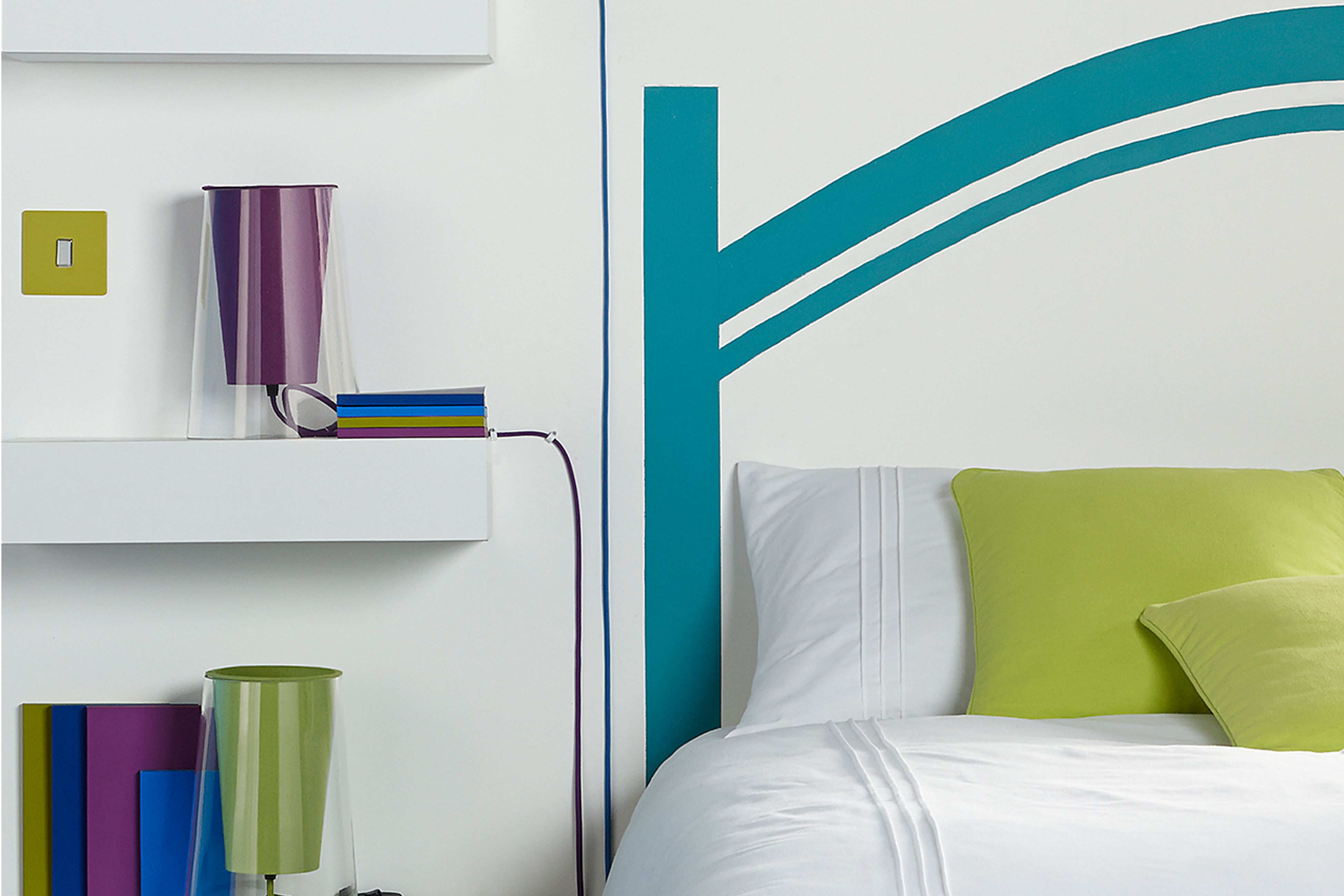 A funky bedroom