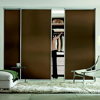 Made to Measure Double Sided 1 Panel Glass Sliding Wardrobe Door