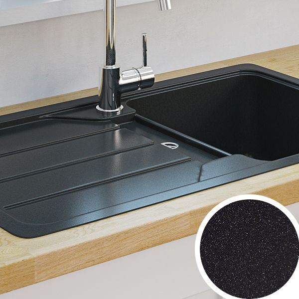 Kitchensinks : Kitchen Sinks Metal & Ceramic Kitchen Sinks DIY at B&Q