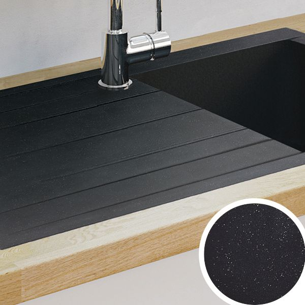 grey composite kitchen sink