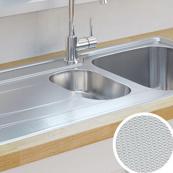 Metal kitchen sink kitchen sinks metal ceramic kitchen sinks diy at bq workwithnaturefo