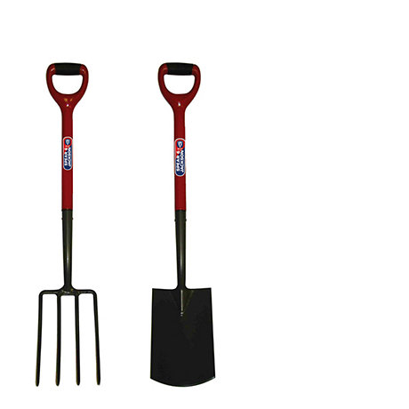 image of garden fork and spade