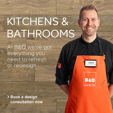 At B&Q we've got everything you need ro refresh or redesign your bathroom and kitchen