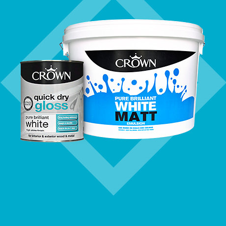 Crown 10L White & Magnolia Emulsion & 750ml Quick Dry Gloss - 2 for £25 Mix & Match
