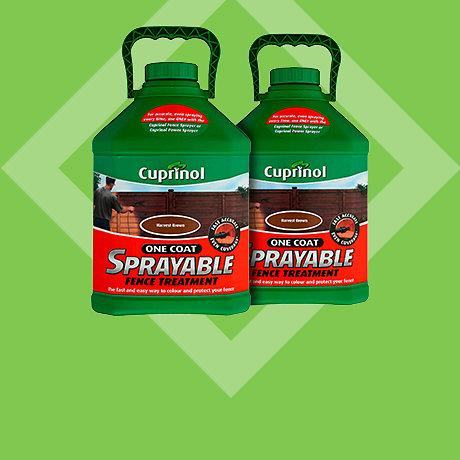Cuprinol One Coat Sprayable fence treatment 5L - 2 for £26