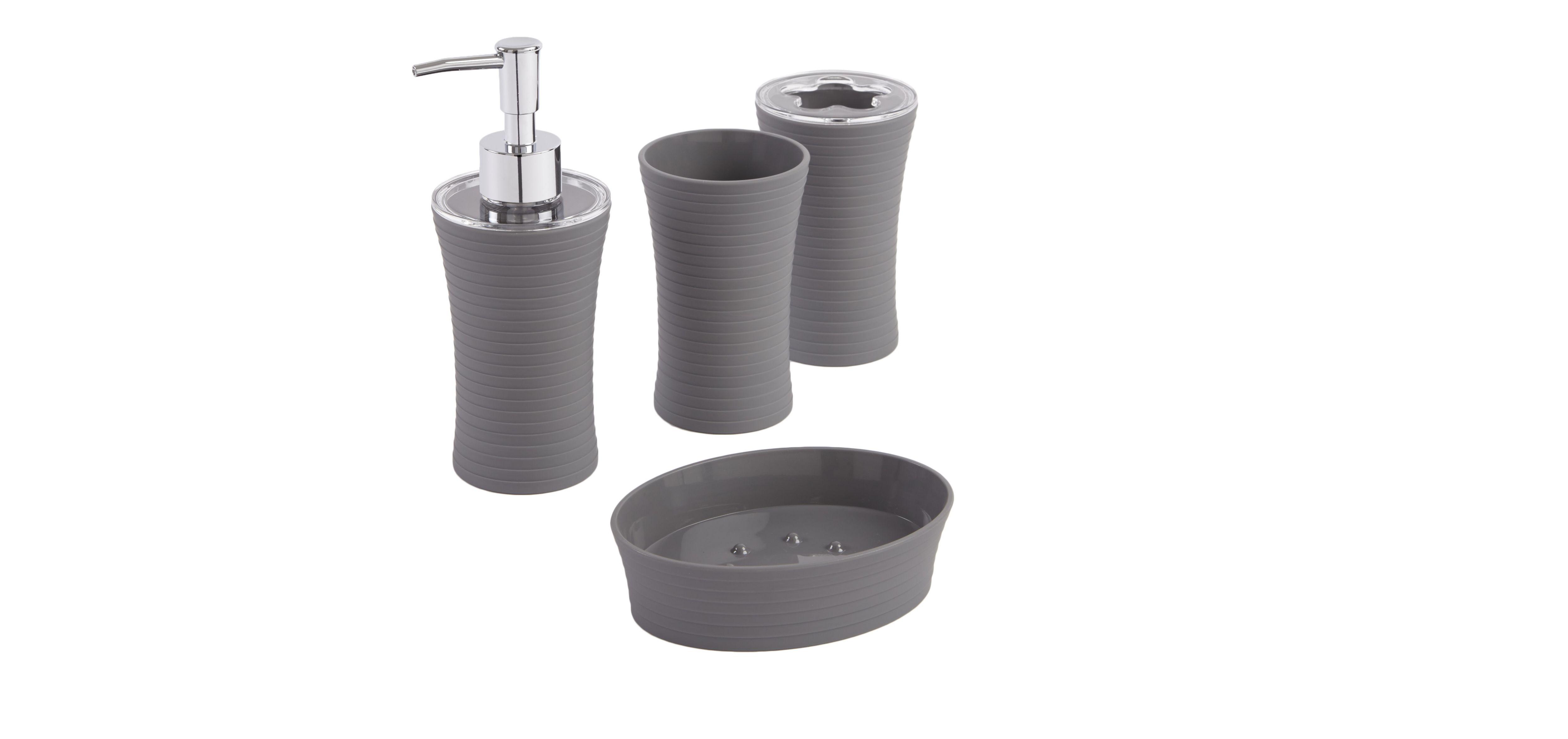 manza anthracite bathroom accessories