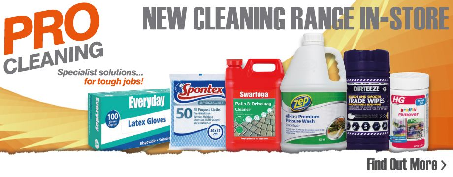 New cleaning range available in store