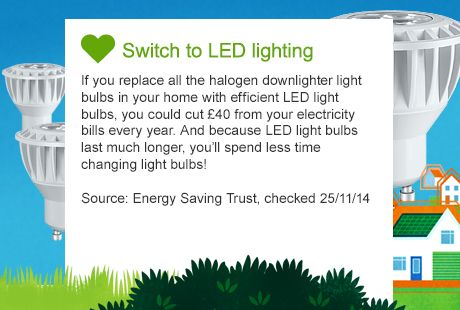 Energy saving lighting image