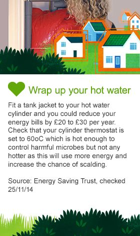 Wrap up your hot water image