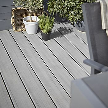 Composite grey Trex decking