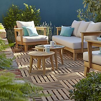 Adonia garden furniture with decking tiles