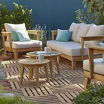 Adonia wooden four seater coffee set