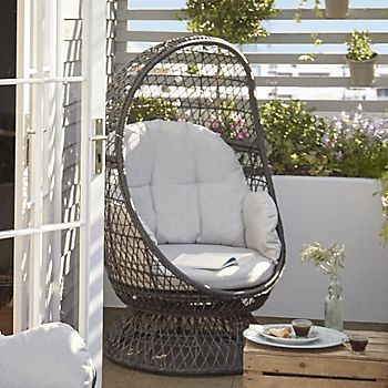 Anya metal egg armchair