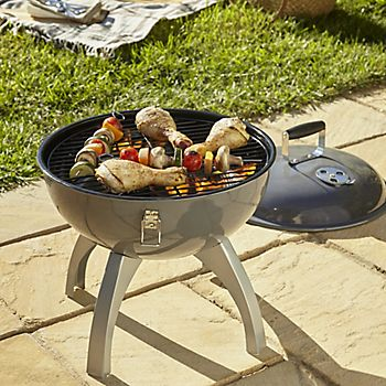 Small charcoal kettle barbecue