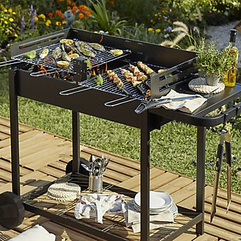 Zelfo charcoal trolley barbecue