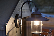 How to fit outdoor lights
