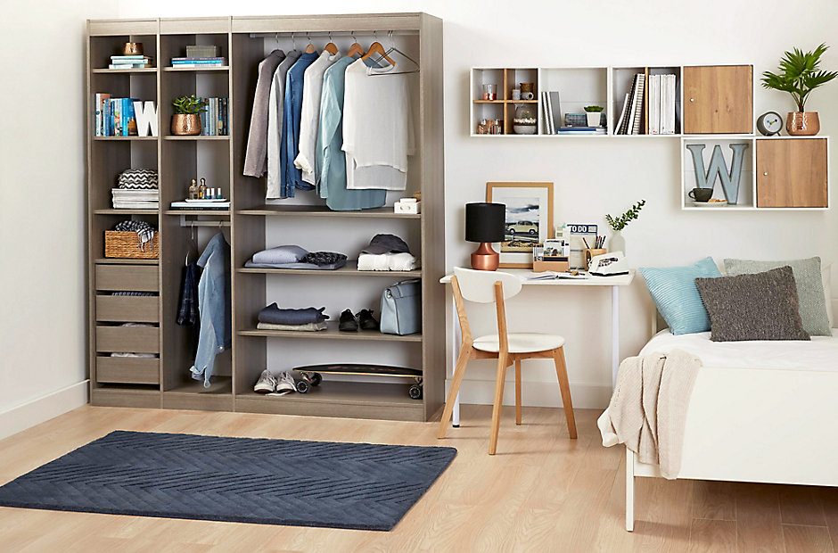 Perkin furniture storage solutions diy at b q for Bedroom furniture storage solutions