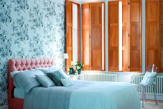 Solid bedroom shutters