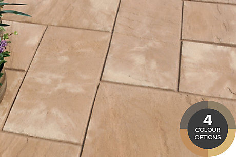 image of old riven paving