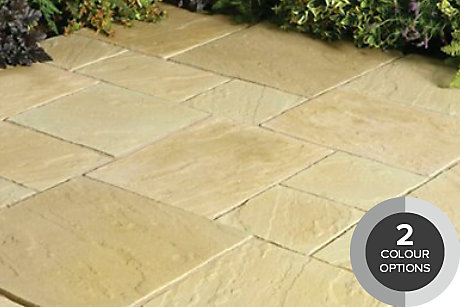 image of layered slate paving