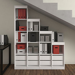 Form Perkin White Under The Stairs Storage Kit