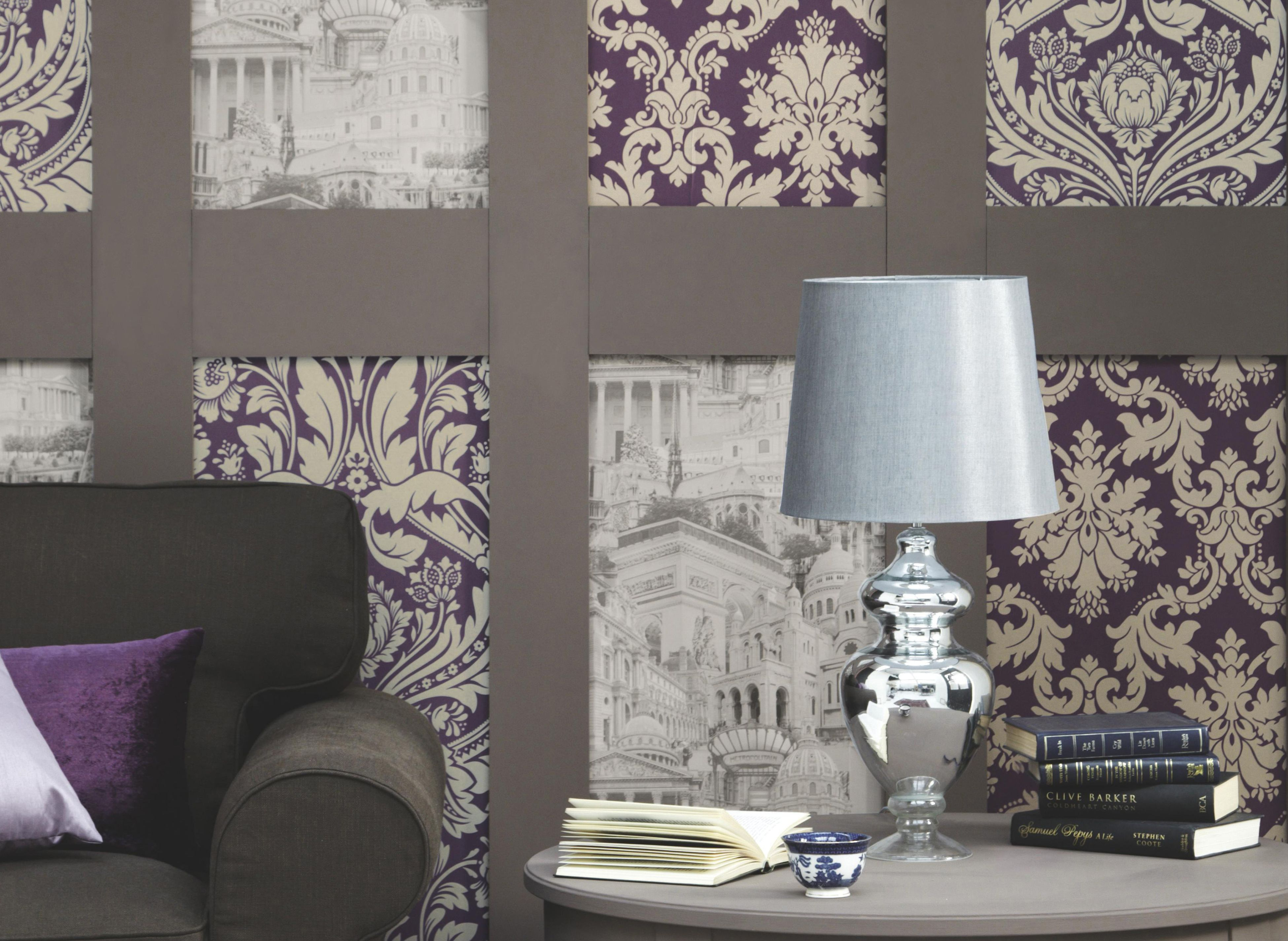 Wallpapering any room any style projects diy at b q for B q living room doors