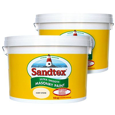 2 for €90 (54.98 each) all sandtex 10 litre coloured masonry pain
